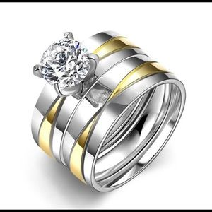 stainless steel wedding set size 8